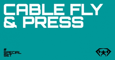 cable fly en press borst oefening